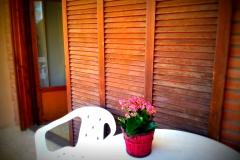 terraza doble con flor
