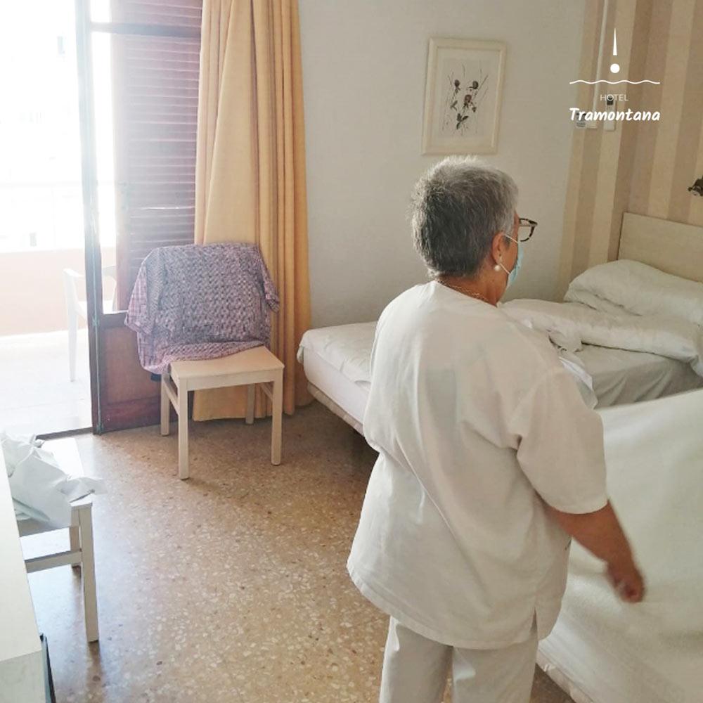 Protocolos de limpieza y desinfección en el Hotel Tramontana